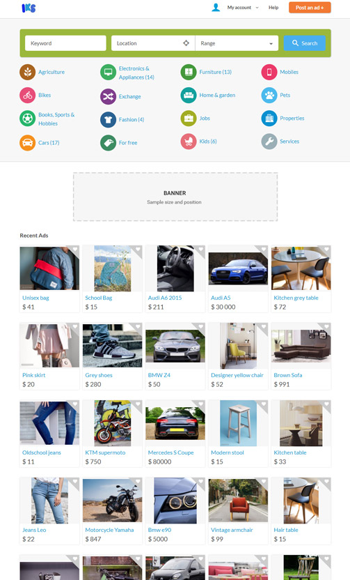 Classified ads website like OLX